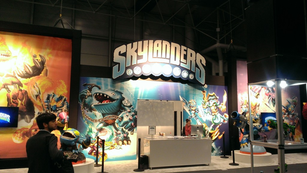 Skylanders had their own corner. I kinda thought they'd be over by now...