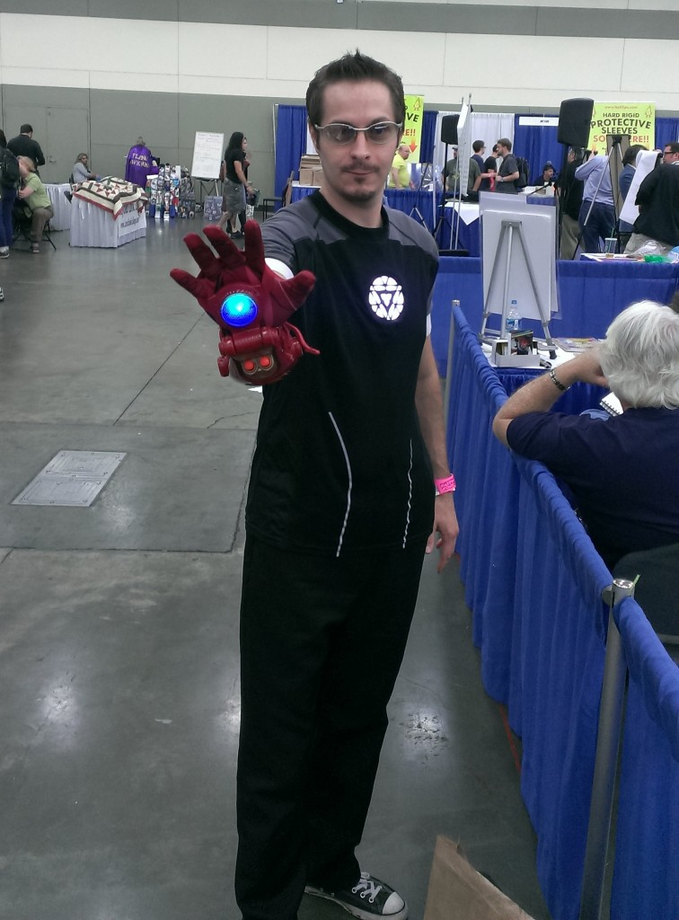 Tony Stark. You can't tell in the pic, but his arc reactor lit up.