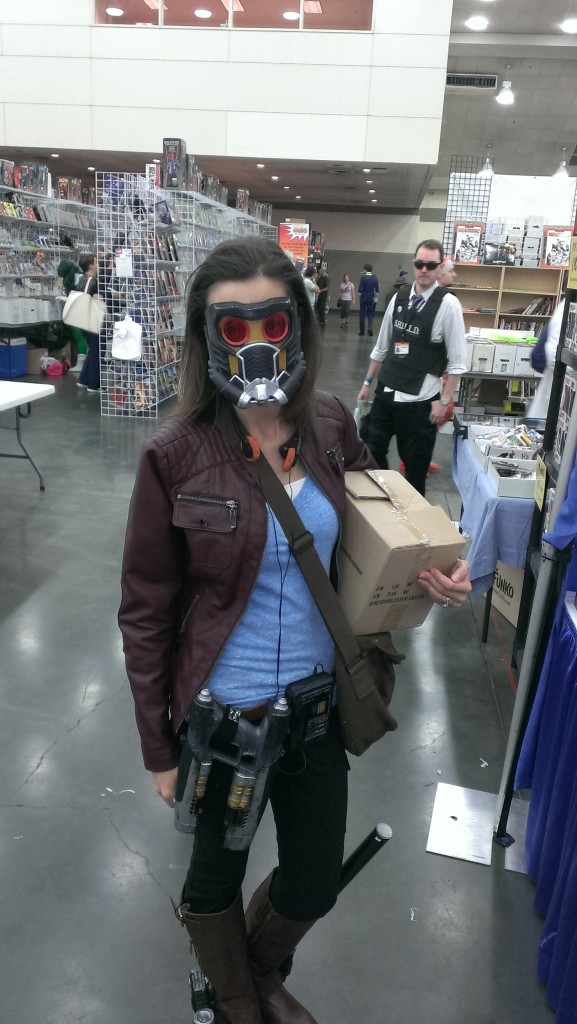 Crossplay Star-Lord, with S.H.I.E.L.D. agent in background