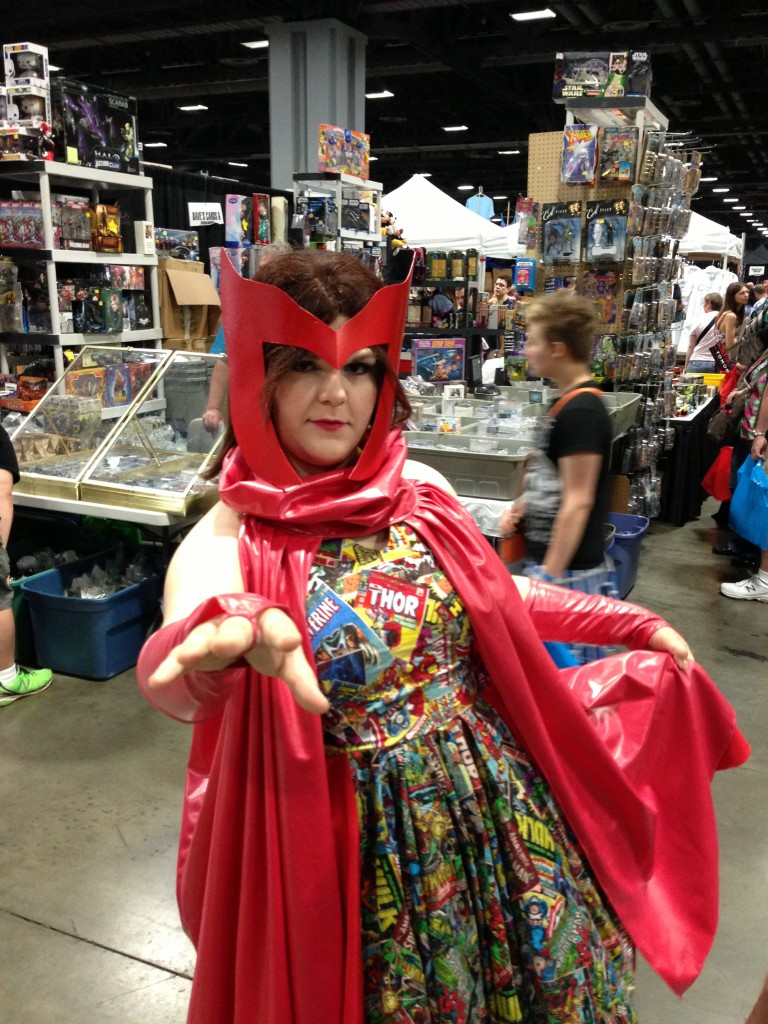 Scarlet Witch in an awesome Marvel dress