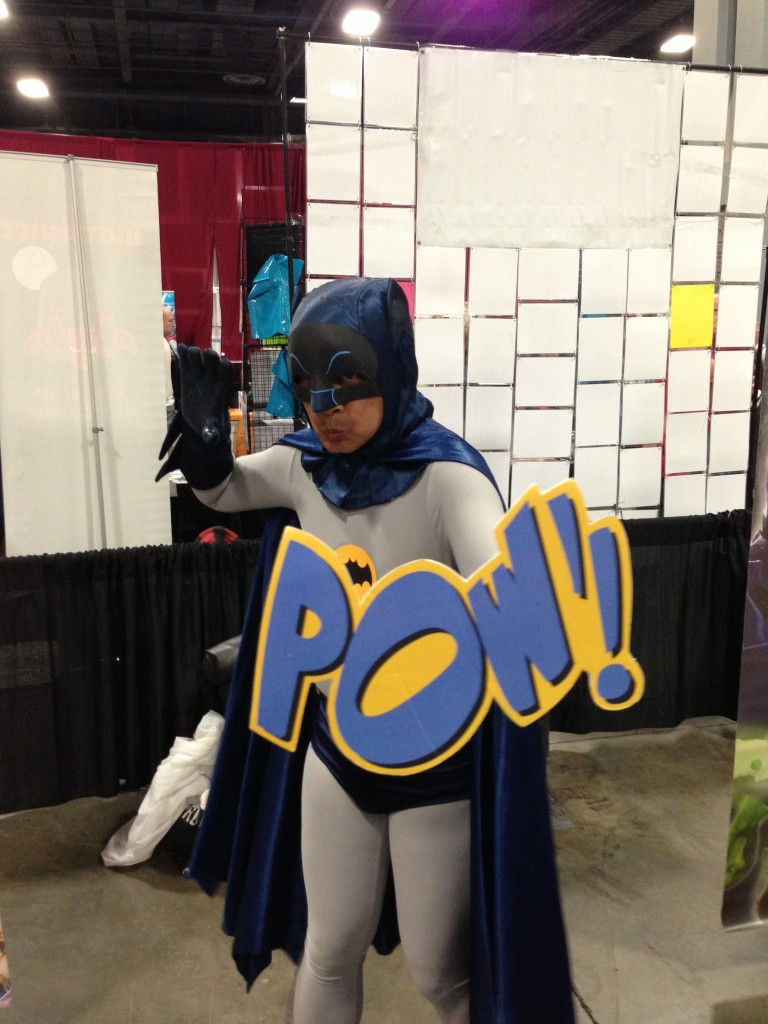 "Pretty sure this was a Filipino Batman. And the ""POW"" was the icing on the cake!"