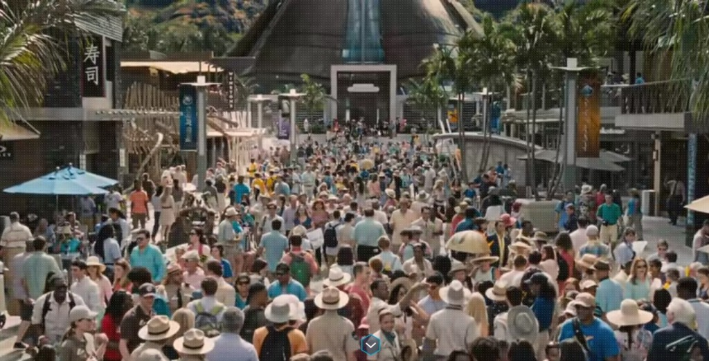 Jurassic World crowd