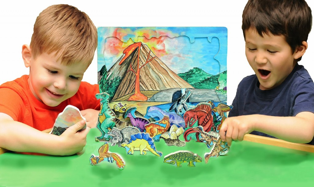 Kids Playing With Dinosaurs